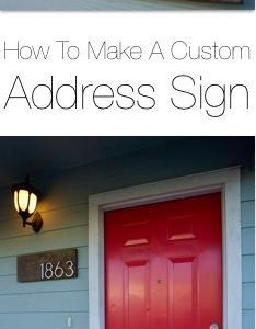 How to make  custom address sign this project is super easy inexpensive and also rh pinterest
