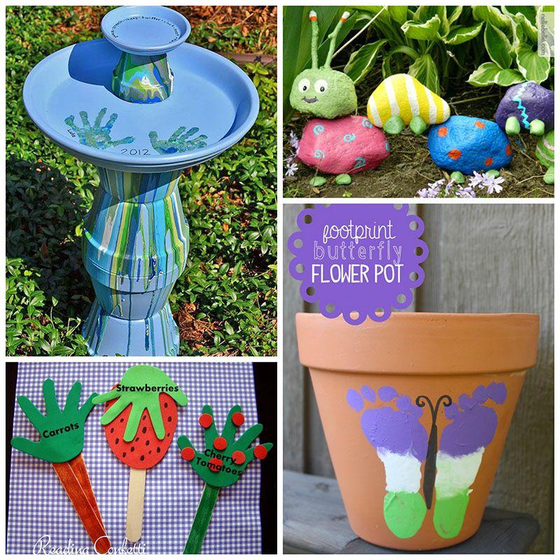 12 Super Cute Garden Crafts For Kids Gardens Kids Garden Crafts