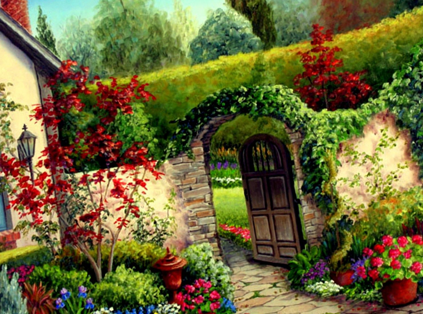 Flower Garden Landscape Click Image For More Details This Is
