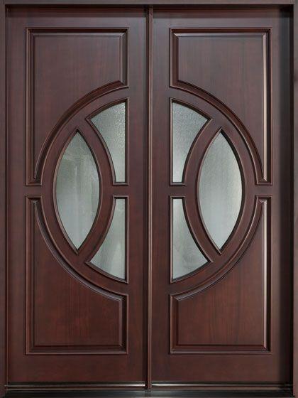 Mahogany Solid Wood Front Entry Door Double CAC LOAI CUA