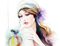 watercolor painting of tatiana nikitina beautiful girl ...