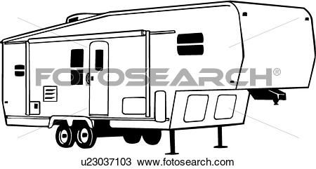 5th Wheel Travel Trailer Coloring Pages Sketch Coloring Page