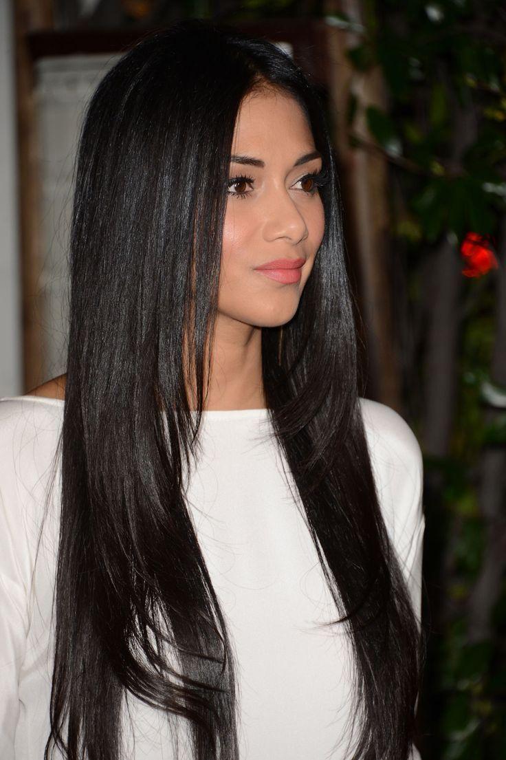 Long Black Layered Haircut Women Hairstyle Pinterest Colors