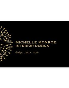 Business card template for interior designer lighting decorator stylist or blogger also rh es pinterest