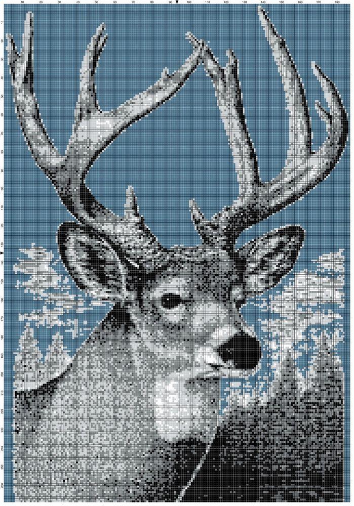 Deer Blanket Crochet Pattern