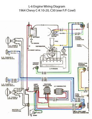 ELECTRIC: L6 Engine Wiring Diagram | '60s Chevy C10