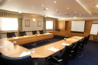 Modern Office Meeting Room Design With Brown Laminated ...