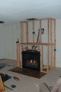 Amazing DIY Fireplace and Built