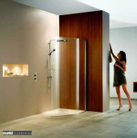 Matki Curved Wet Room Shower Panel with Deluge Pack : UK ...