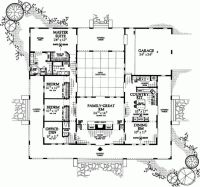 Awesome U Shaped Home Plans Throughout Ranch Style House ...