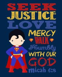 Super Hero Wall Art Christian Print Superman by ...