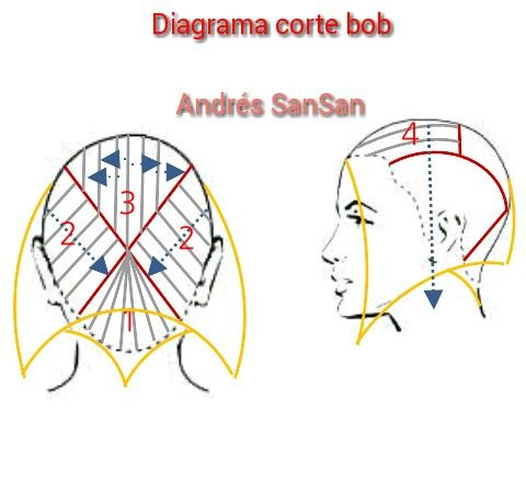 Diagrama De Corte Bob YouTube Andrs SanSan Diagramas De