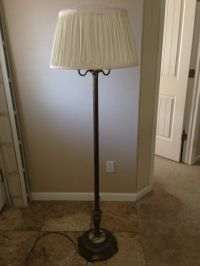 Antique Candelabra Torchiere Floor Lamp with Marble Base ...