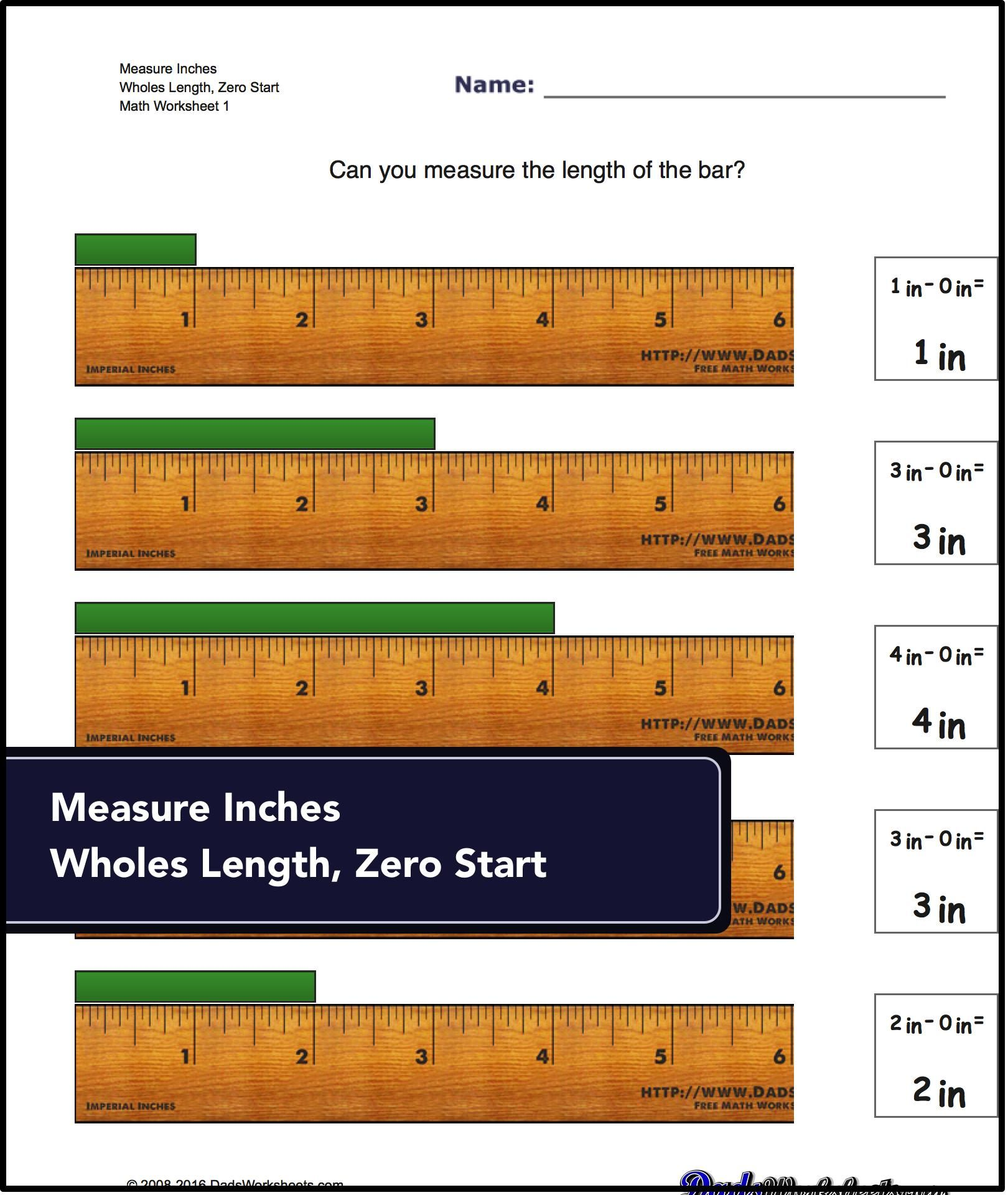 Measurement Conversion Worksheet