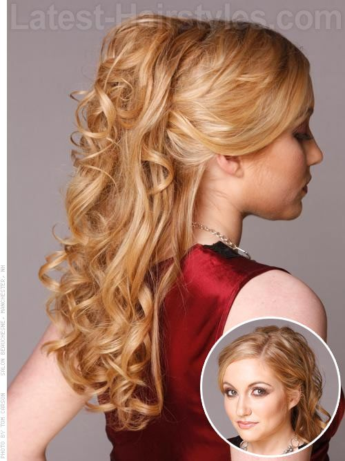 Half Updos For Long Hair Half Up Half Down Prom Hairstyles