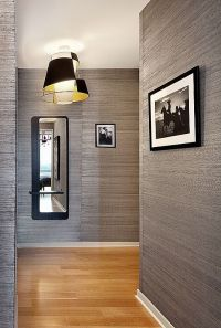 textured wallpaper- the hallway is never boring | entry ...