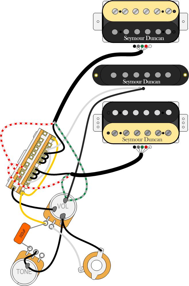 Wiring Diagram For Single Humbucker Pickup