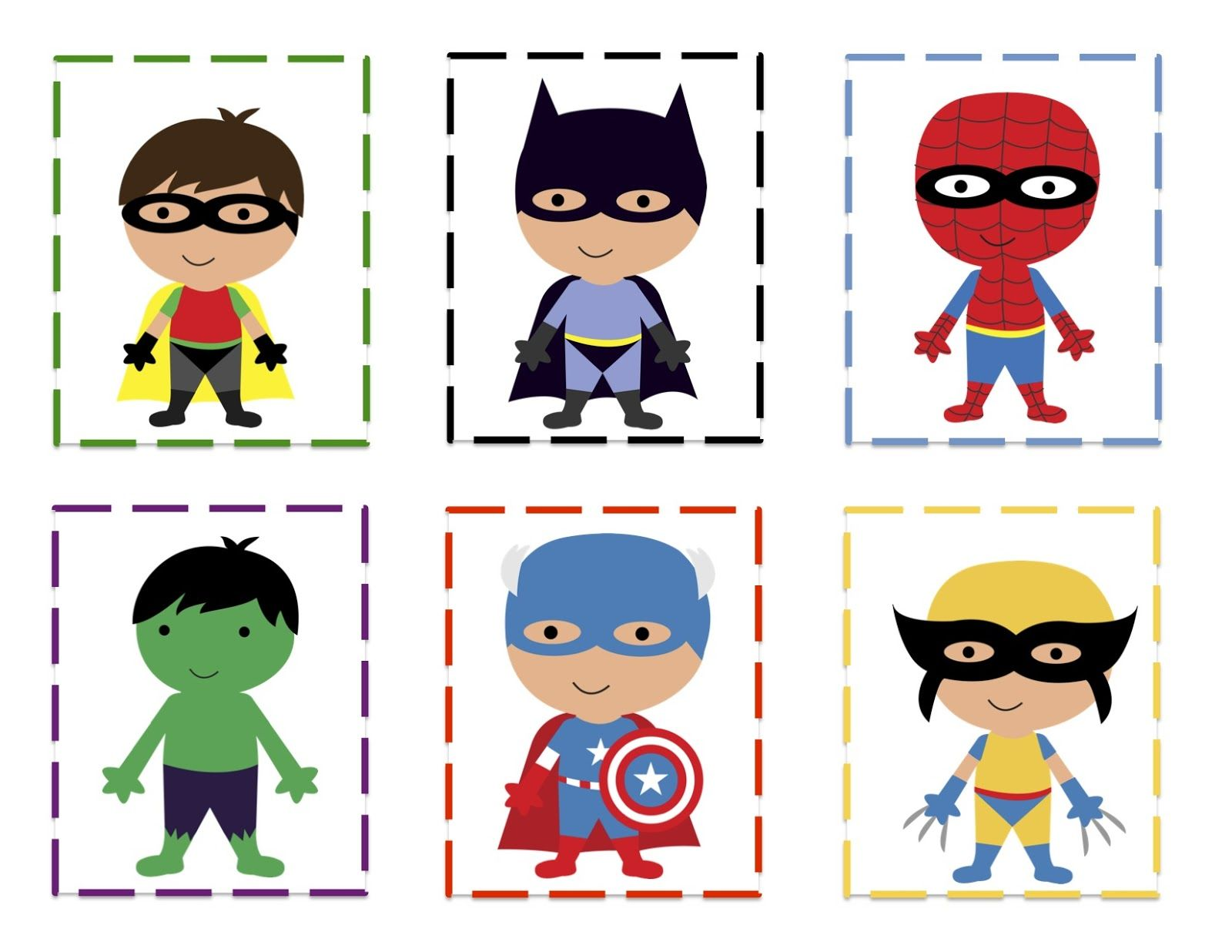Superhero Printable For Making Patterns