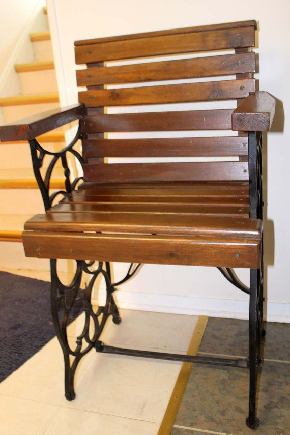 Treadle Sewing Machine Base Repurposed Chair by