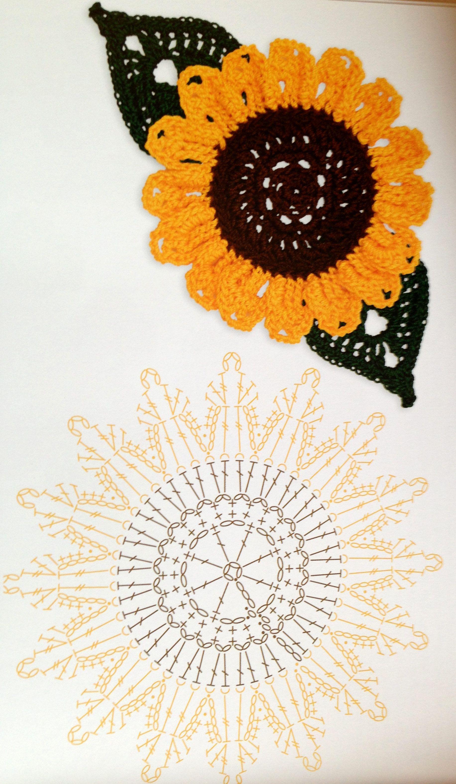diagram crochet coaster 13 pin caravan plug wiring uk sunflower chart 4u hilariafina http www