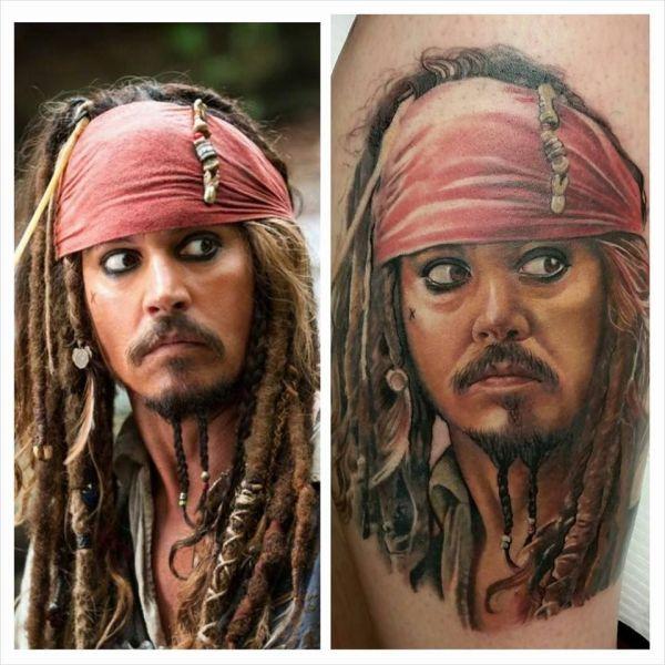 Captain Sparrow - Sarah Miller Tattoo Artist Jack