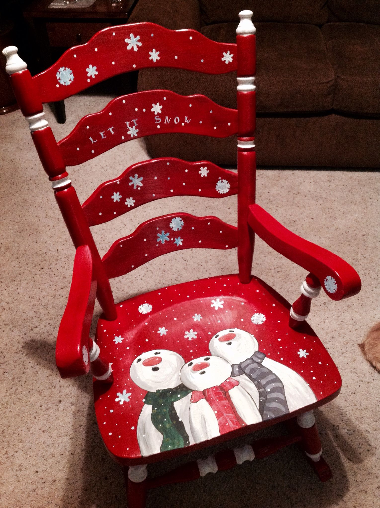 Painted Chairs with holiday themes  Dixcies Painted