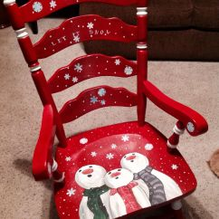 Hand Painted Wooden Chairs Swivel Reclining Chair With Holiday Themes Dixcie 39s