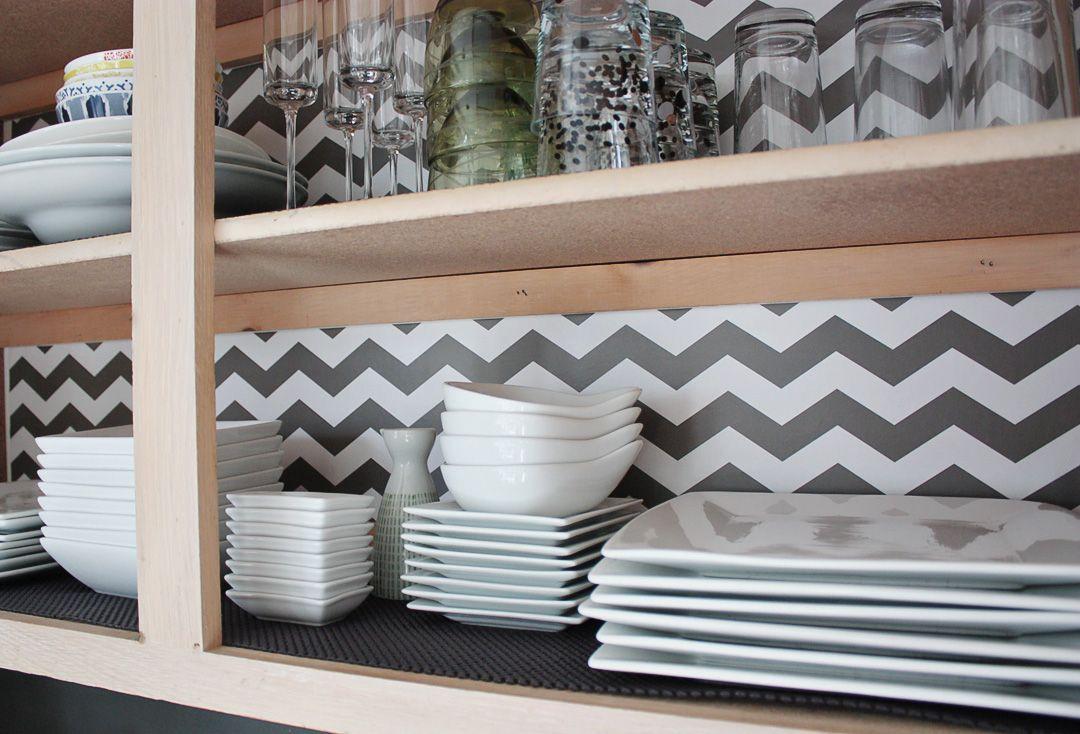 Chevron Shelf Liner Idea  Decorating Ideas  Pinterest