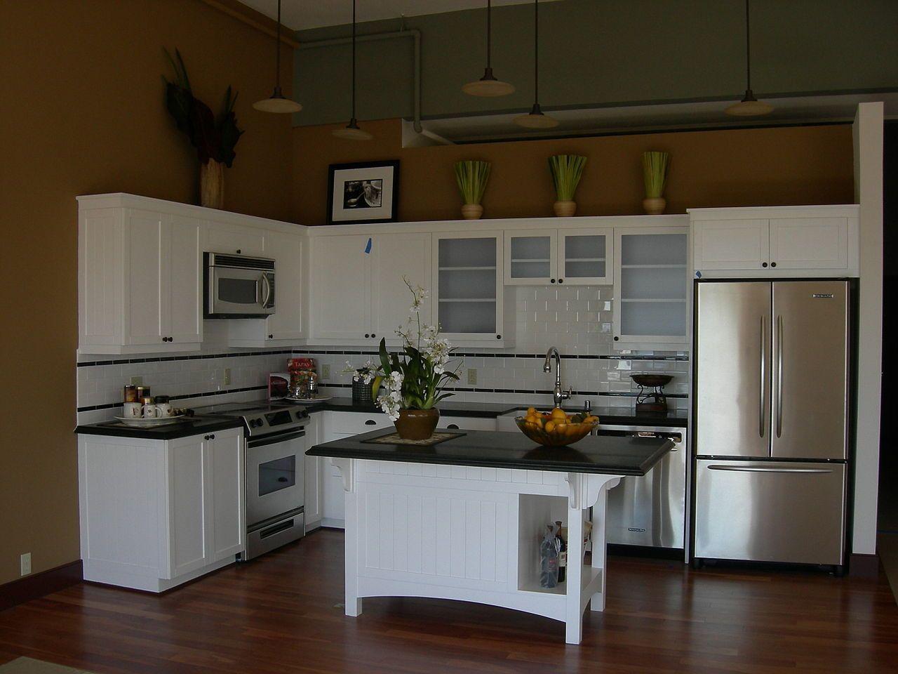 Kitchen Fantastic White L Shape Kitchen Design With