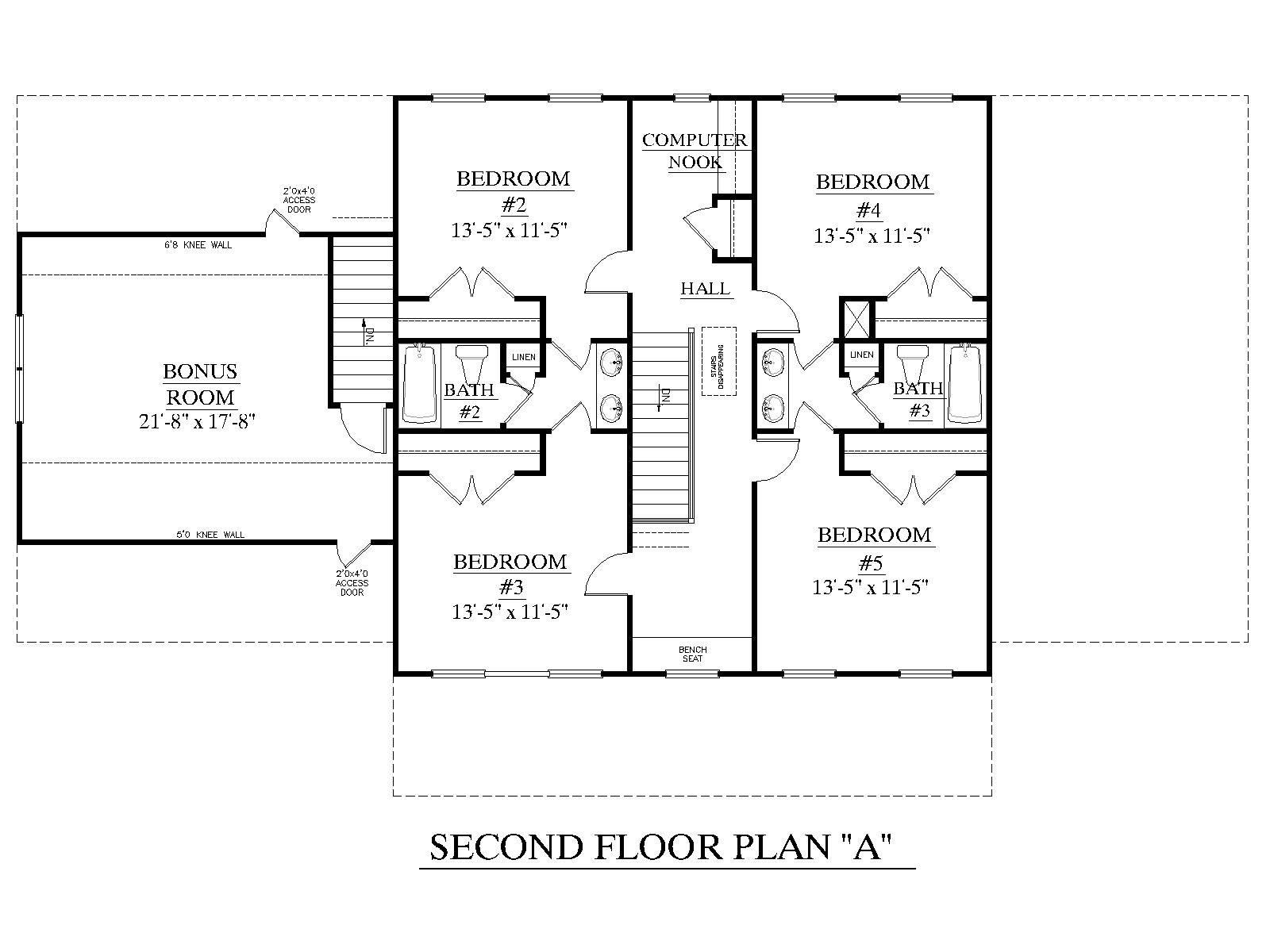 House Plan C Pendleton Second Floor