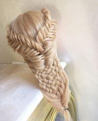 Fishtail braids/woven braid  | hair | Pinterest | Weave ...