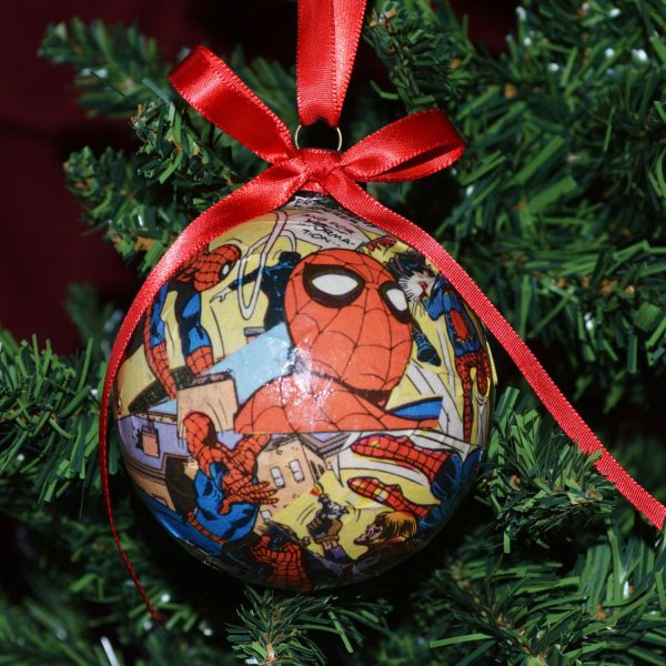 Comic Book Christmas Ornaments