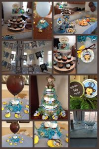 Monkey Boy - Baby Shower Theme - Blue, Green & Brown ...