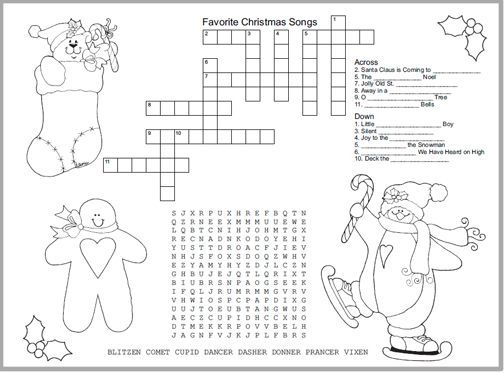 Printable Christmas Activity Placemat (Make little guests