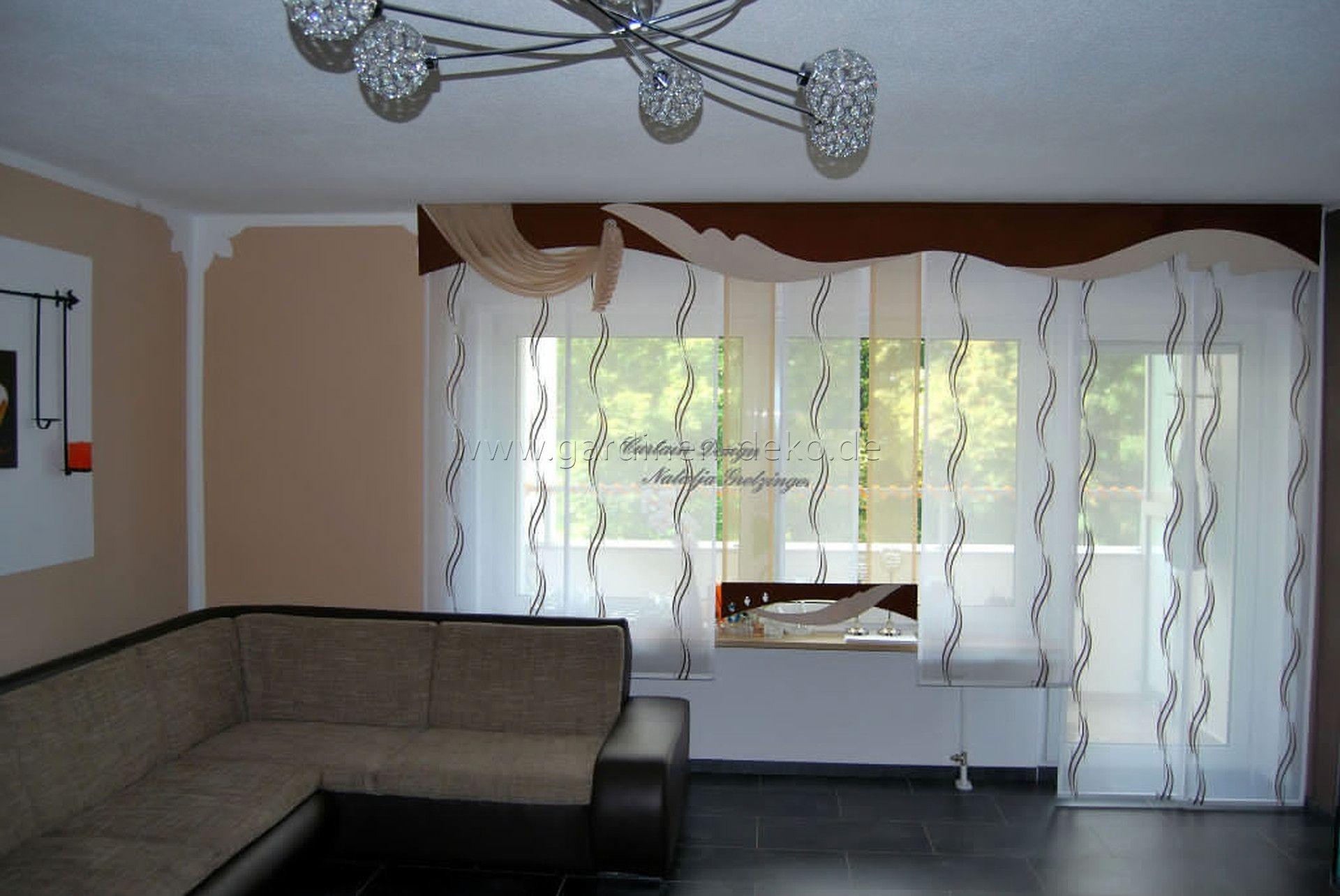 Moderner und heller Schiebevorhang frs Wohnzimmer  http