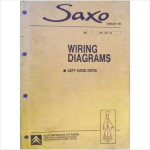 £2499 Citroen Saxo LHD Wiring Diagrams Workshop Manual