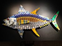 Yellowfin Tuna Fish Beer Cap & Can Art by BrewArtByBill on ...