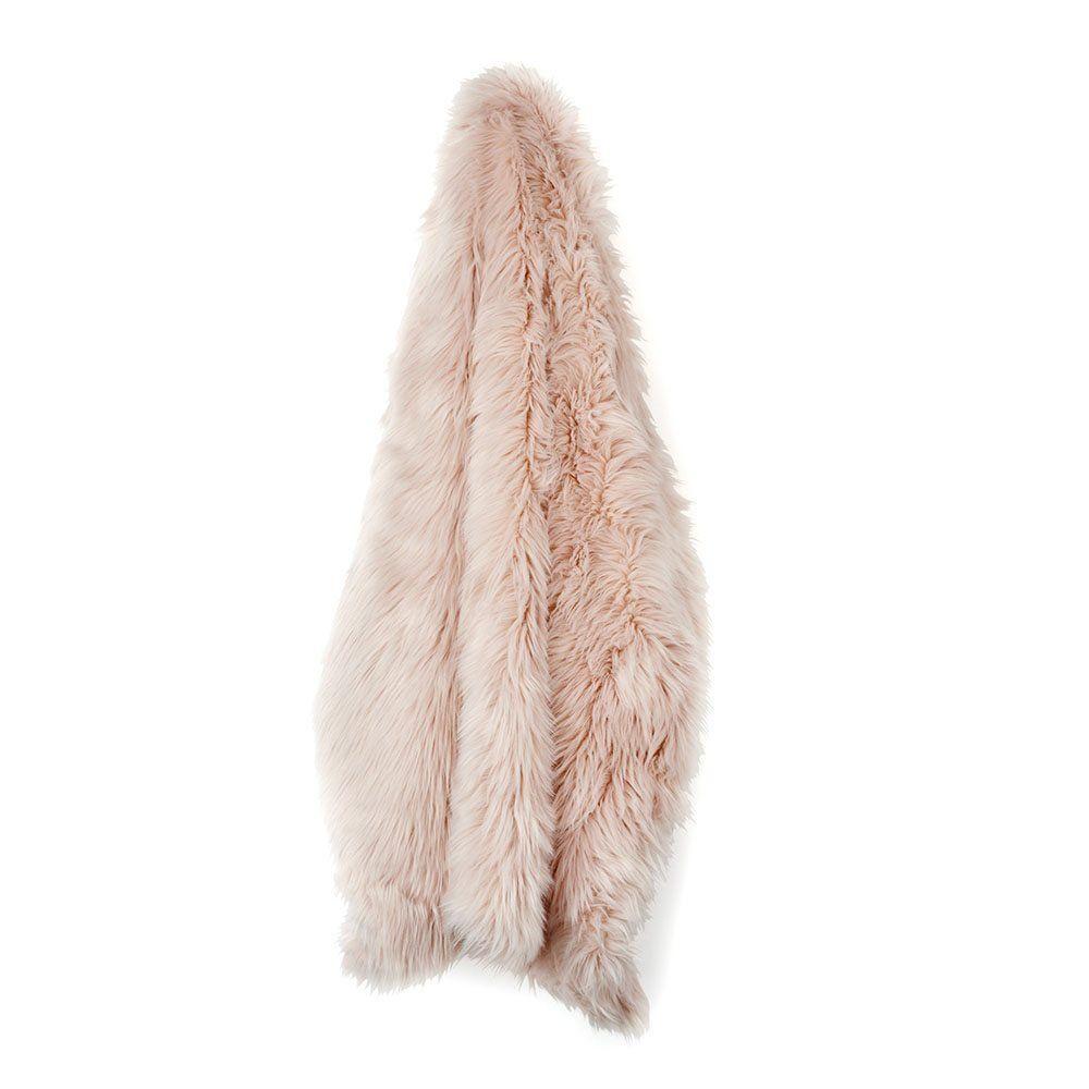 72 inch sofa bed corner sectional amazon.com: nicole miller blush rose gold luxury mongolian ...