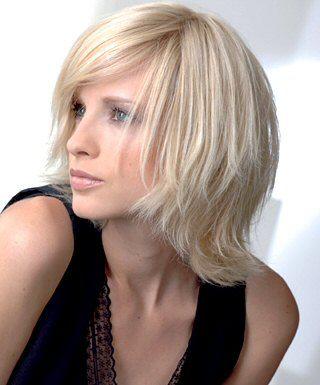 Frisuren Für Mittellanges Haar Me Pinterest