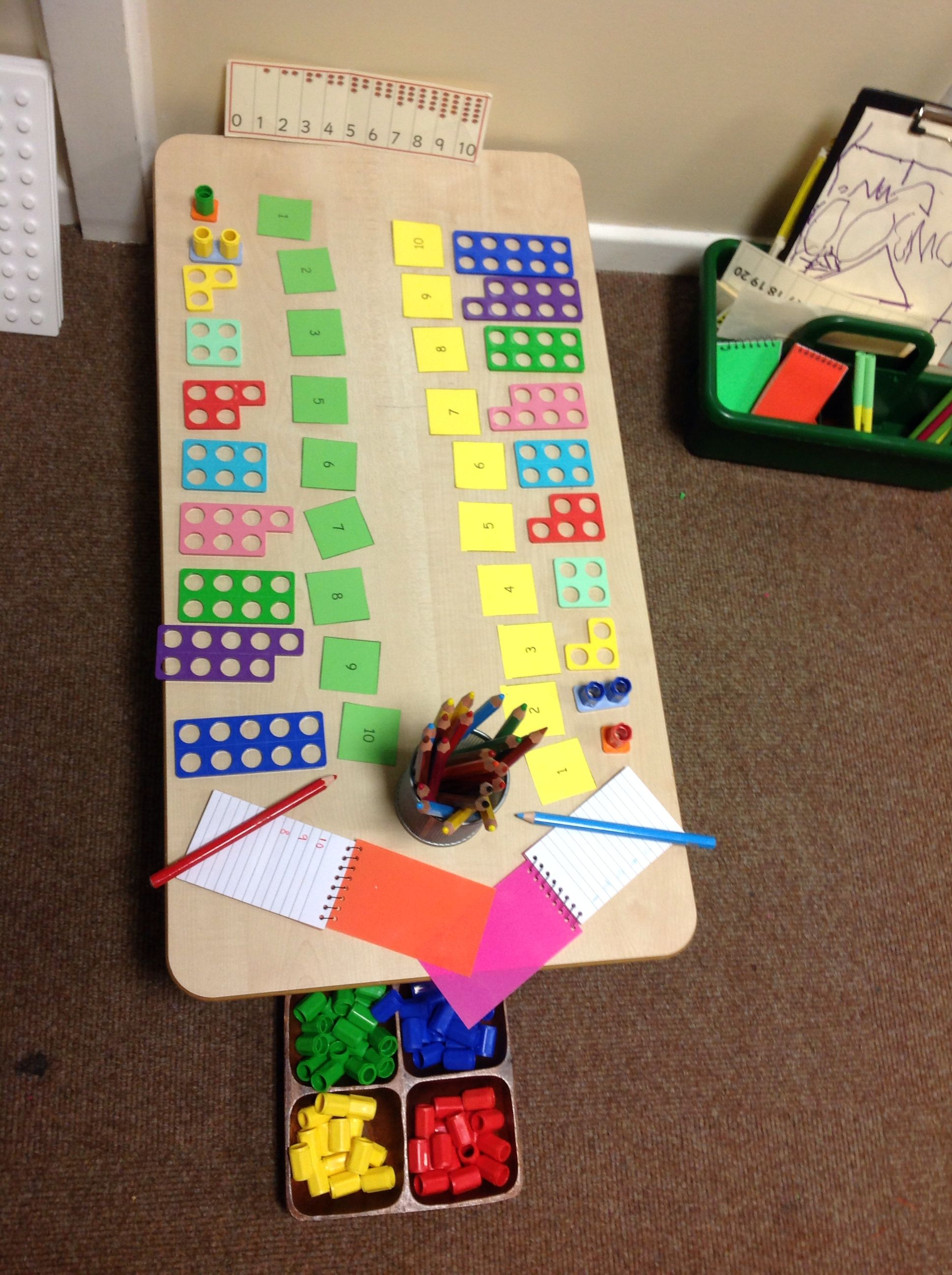 Numicon Investigation Area With Mark Making