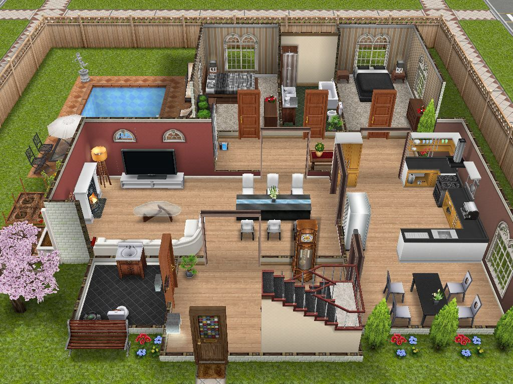 Sims Landing A Sims FreePlay Town — This Two Story House In The