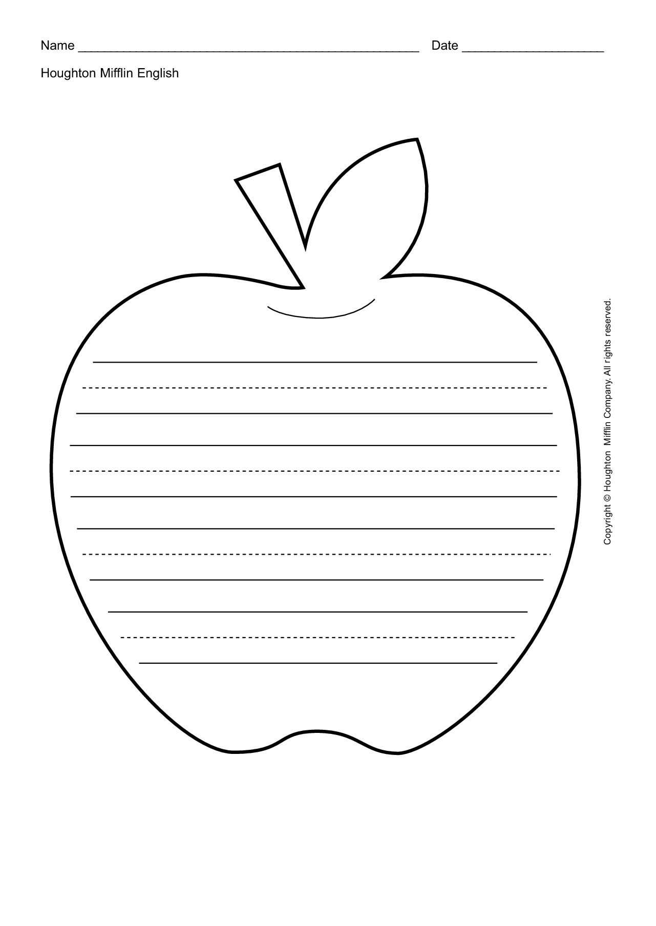 Apple Leaf Template Printable