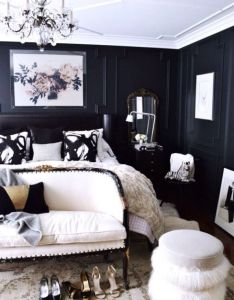 Black design affects the mind and body by boosting self confidence increasing sense  also glamour        bedroom pinterest rh za