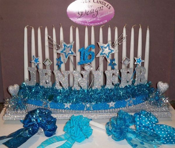 Sweet 16 Candelabra Candle Holder Lighting Ceremony