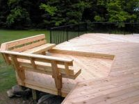 Built in Deck Bench Plans | Bench with back support ...