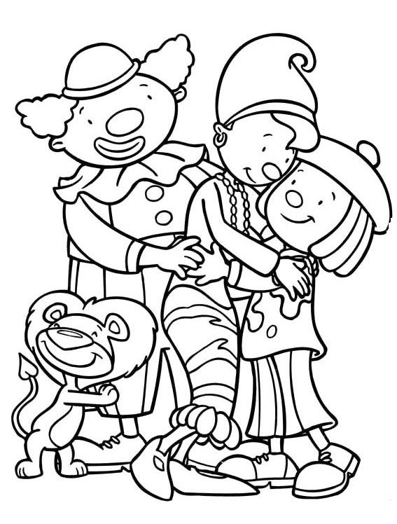 jojo circus cuddle coloring for kids  coloring