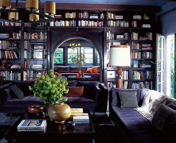 Cozy Home Library Interior Ideas Interiors And