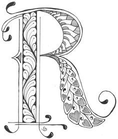 Resultado de imagen de calligraphy and zentangle