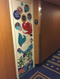Our Little Mermaid-themed Disney Cruise door decoration ...