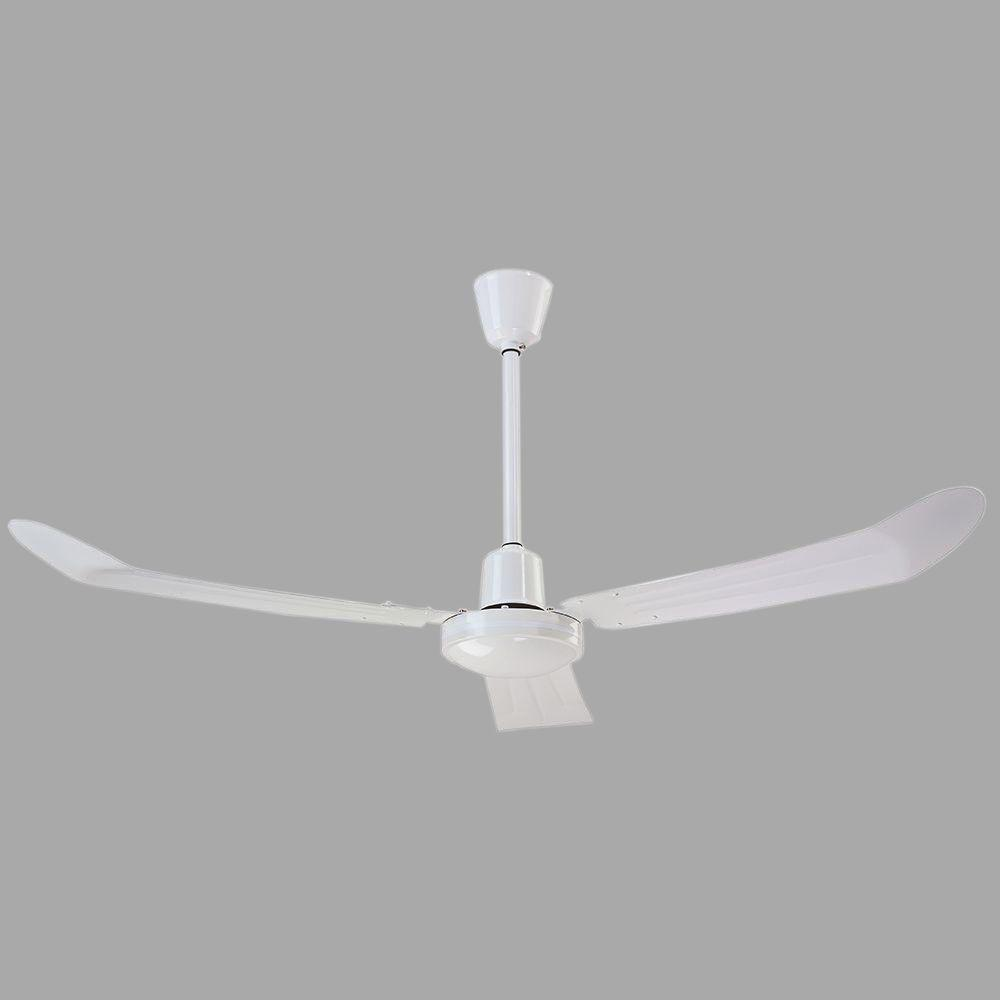 hight resolution of canarm industrial 56 in loose wire white ceiling fan with 36 in downrod